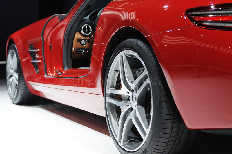 Download Mercedes benz  sls amg editorial photography. Image of exhibitor - 16206592