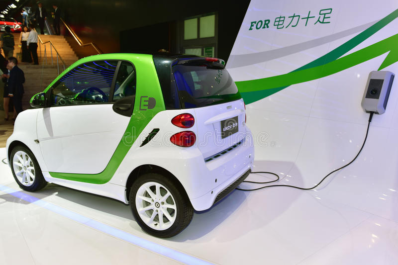 The Mercedes Benz smart fortwo electric car stock images