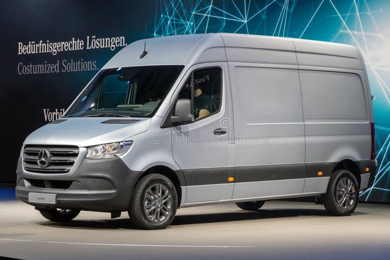 2019 Mercedes Benz Sprinter-bestelwagen stock foto