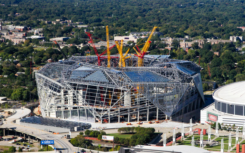 Mercedes Benz Stadium royaltyfri bild