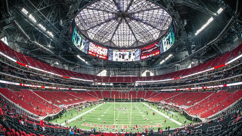 Mercedes Benz Stadium Atlanta lizenzfreies stockfoto