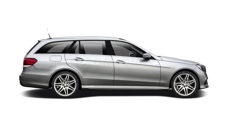 Mercedes Benz station wagon stock images
