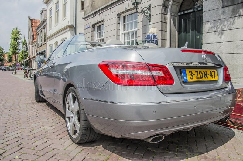 Mercedes-Benz On The Street At Weesp o 2018 holandês fotografia de stock