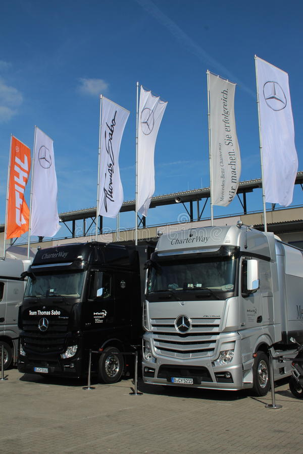 Mercedes Benz Trucks stockfoto