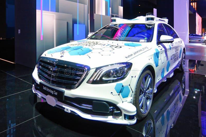 68. IAA Frankfurt 2019 - Mercedes-Benz ROBO-TAXI S CLASS autonomous self driving driverless car. Mercedes Benz urban autonomous driving car at the IAA 2019 stock photos