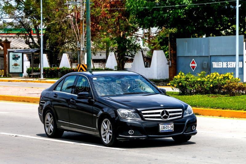 Mercedes-Benz W204 classe de la c photo libre de droits