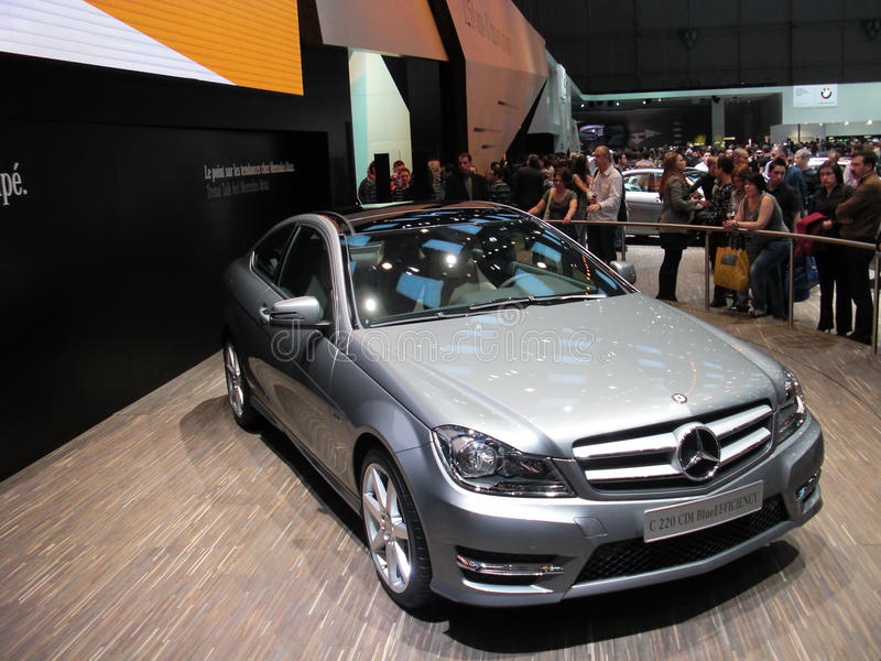 Mercedes C 220. BlueEfficiency at 81st edition of International Motorshow Geneva 2011 stock image