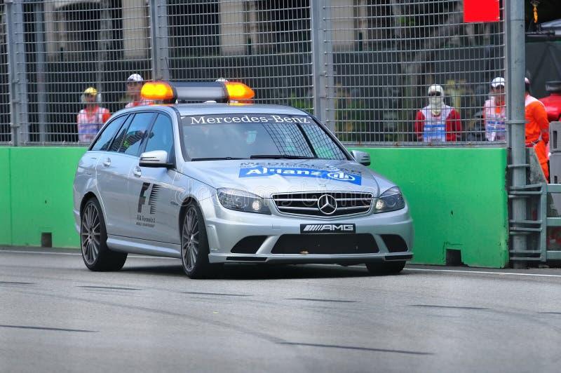 Mercedes C 63 AMG Medical Car At Formula BMW Race Editorial Stock Image