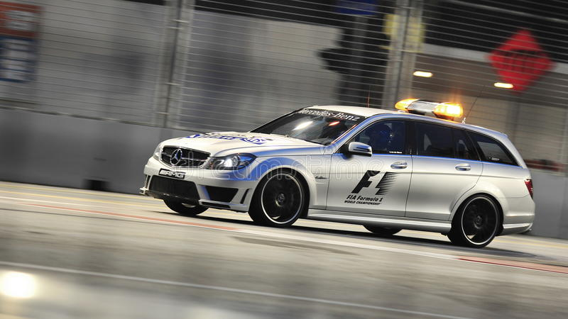 mercedes c63 amg medical car at f1 singapore gp editorial photography image of wagon night. Black Bedroom Furniture Sets. Home Design Ideas