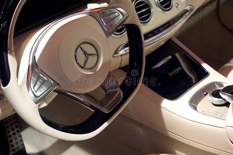 Mercedes car interior royalty free stock image