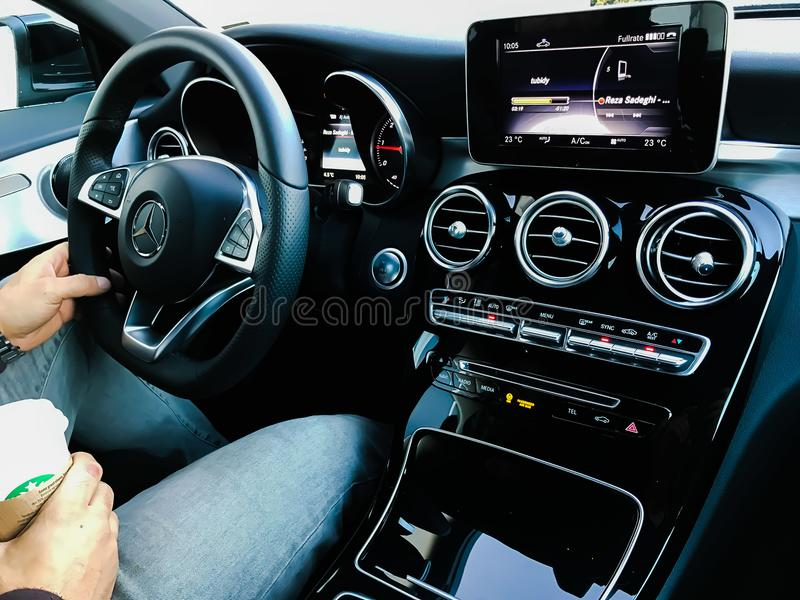 Mercedes CLA interior royalty free stock image