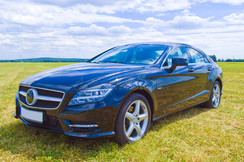 Mercedes cls sideview stockbilder