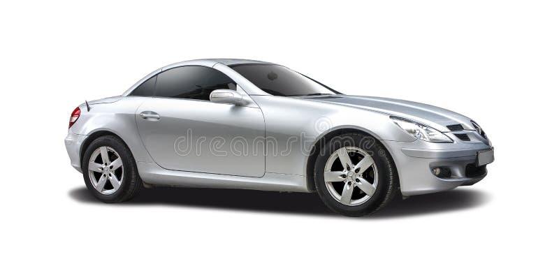 Mercedes d'argento SLK immagini stock libere da diritti