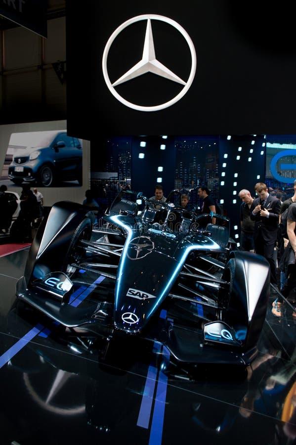 Mercedes Formula E at Geneva 2019 stock photography