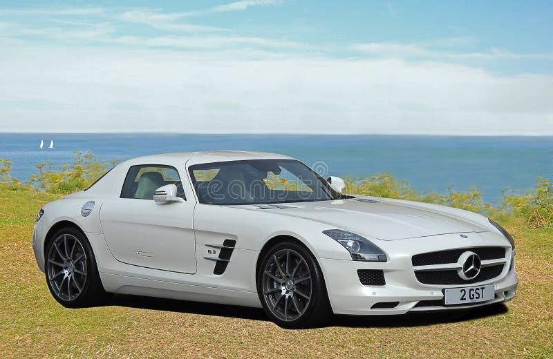 Mercedes gullwing sls roadster stock image
