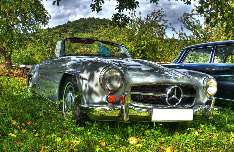 Mercedes HDR royalty free stock photography