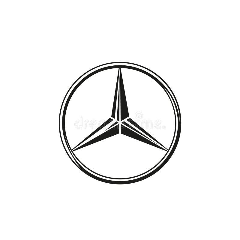 Mercedes Logo Vetora ilustração royalty free