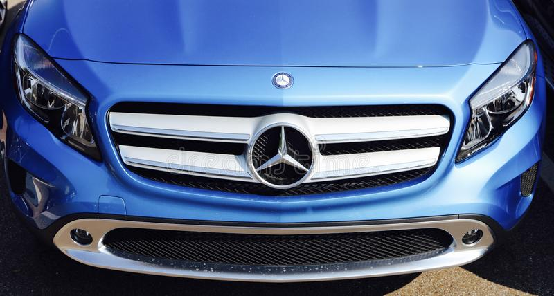 Mercedes Luxury Vehicle Front End stockfotos
