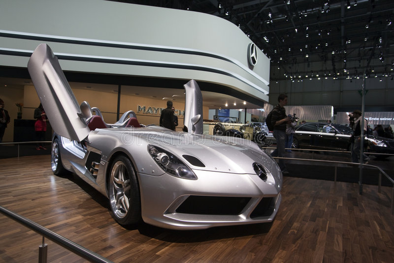 Mercedes McLaren SLR Stirling Moss - Geneva 2009 royalty free stock photo