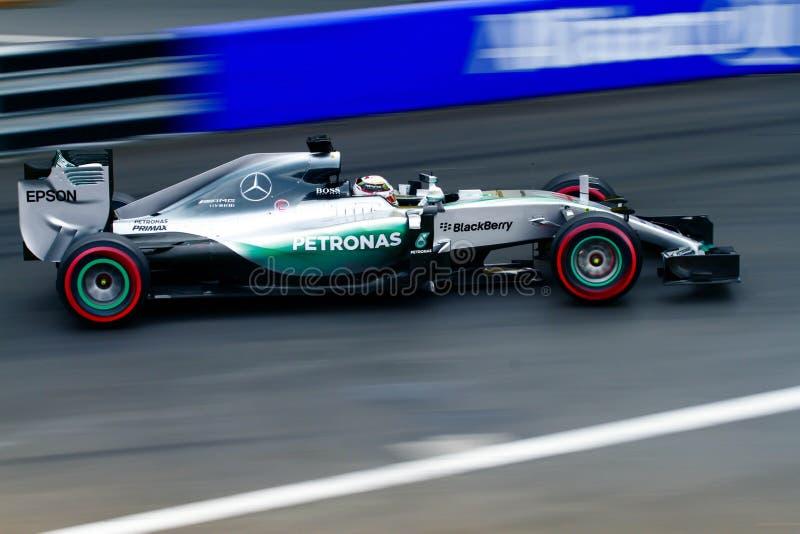 Mercedes Monaco Grand Prix 2015. Mercedes Formula1 Team in Monaco Grand Prix 23 May 2015 stock photo