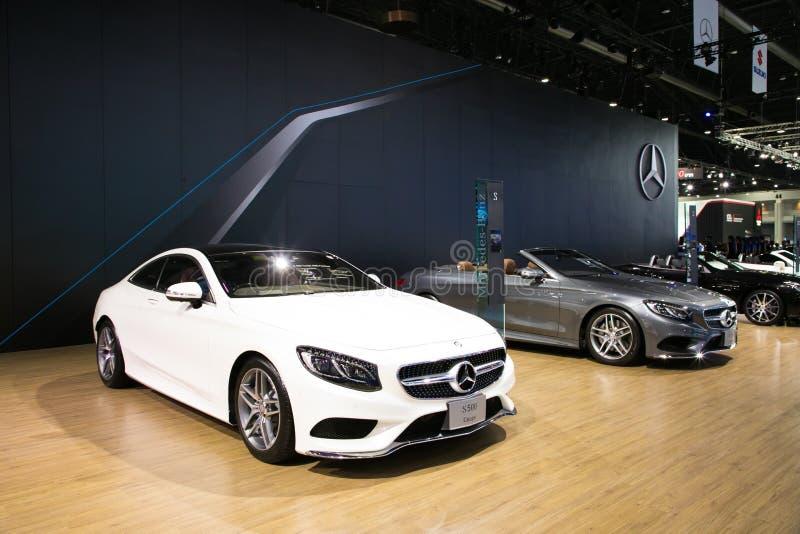 Mercedes na exposição na exposição automóvel internacional 2017 de Banguecoque fotografia de stock royalty free