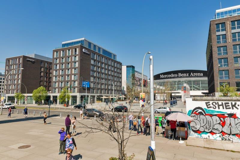 Mercedes Platz in Berlin, Deutschland lizenzfreies stockfoto