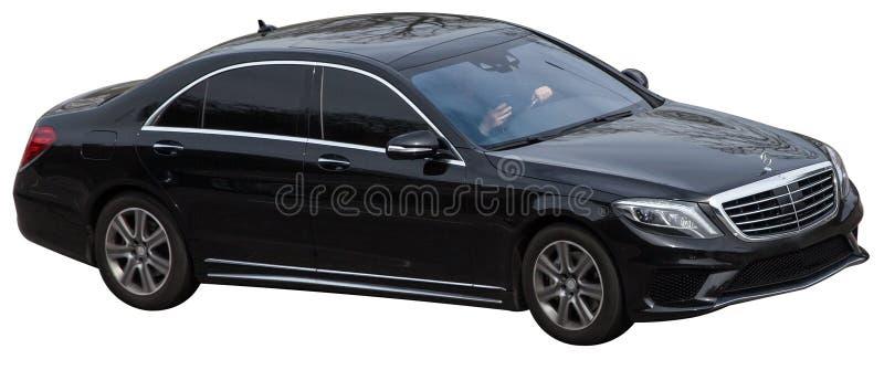 Mercedes s gruppsvart p? en genomskinlig bakgrund arkivfoton