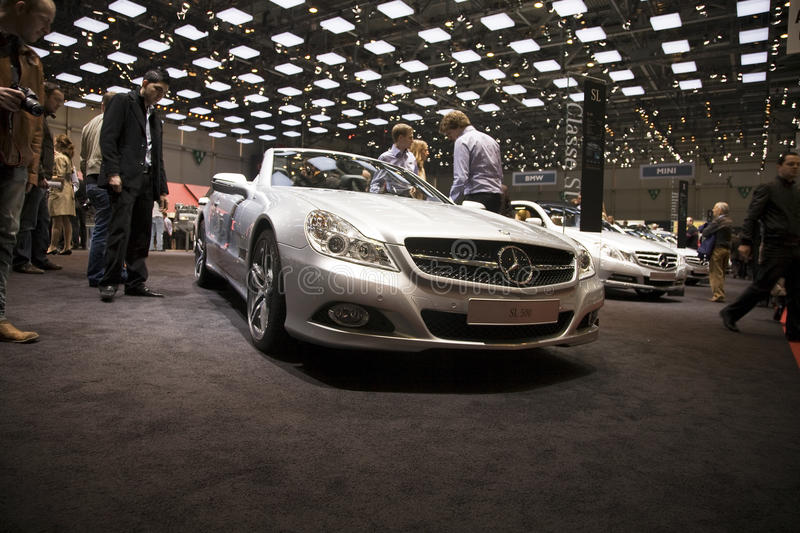 Mercedes SL 500. At the 2011 Geneva Motor Show. Photo taken on: March 04th, 2011 stock image