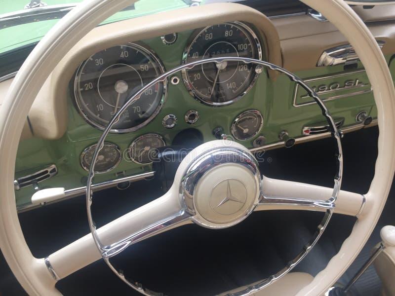Download Mercedes 190 SL Vintage Car Interior Editorial Photography