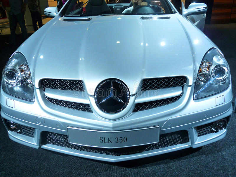 Mercedes SLK 550 stock photography