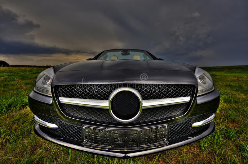 Mercedes SLK 200 Cabrio from front royalty free stock photos