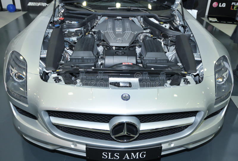 Download MERCEDES SLS AMG editorial stock image. Image of motor - 17128449