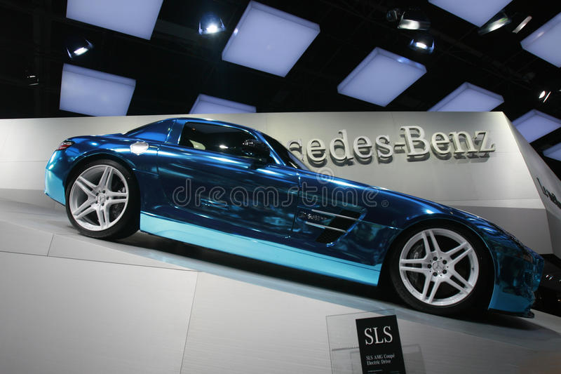 Download Mercedes sls amg 2012 editorial image. Image of chrome - 26990580
