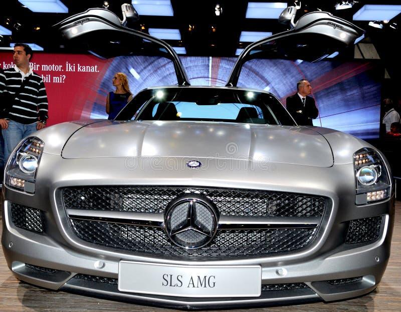 Mercedes SLS AMG stock afbeeldingen