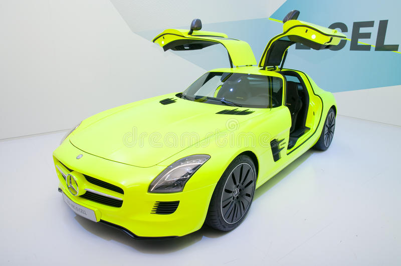 Download Mercedes SLS AMG E-CELL editorial stock image. Image of auto - 22059284