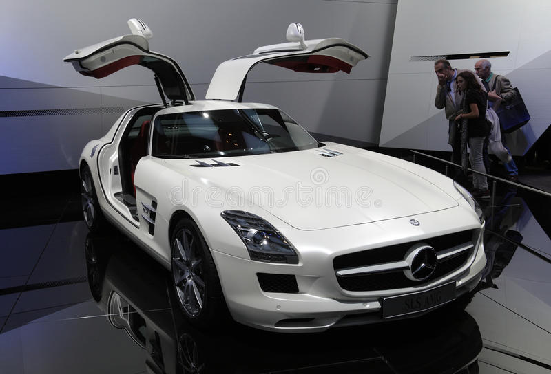 Download Mercedes SLS AMG At Paris Motor Show Editorial Stock Photo - Image: 16455043