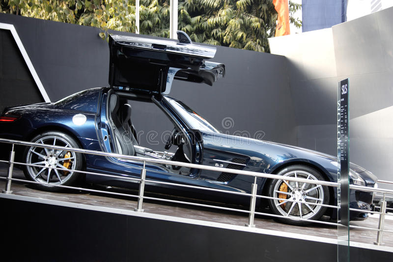 Download A Mercedes SLS On Display At Auto Expo 2012 Editorial Photography - Image: 23007357