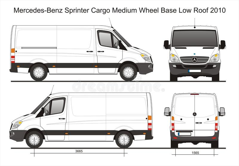 Mercedes sprinter cargo delivery mwb low roof van 2010 blueprint download mercedes sprinter cargo delivery mwb low roof van 2010 blueprint editorial stock image illustration malvernweather Image collections