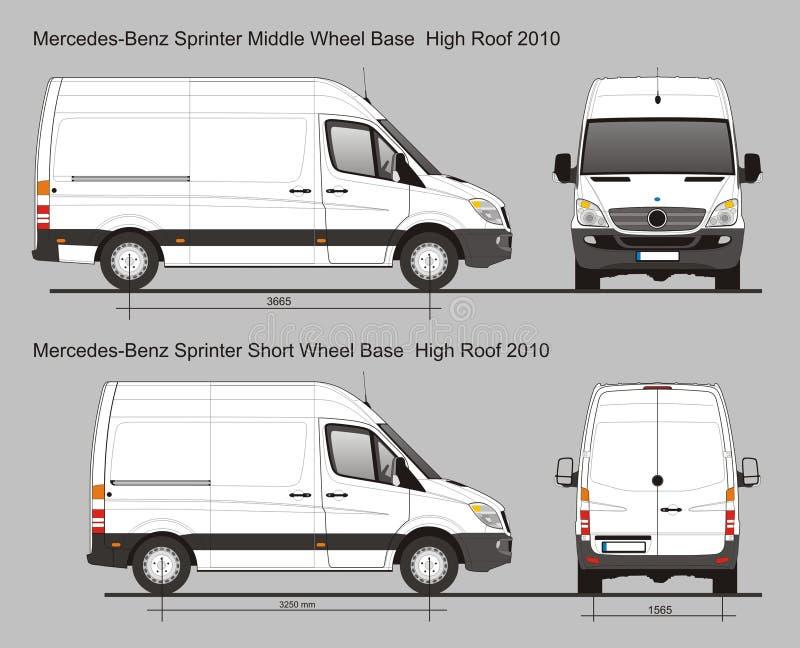 Mercedes Sprinter Van Mwb And Swb Editorial Stock Photo