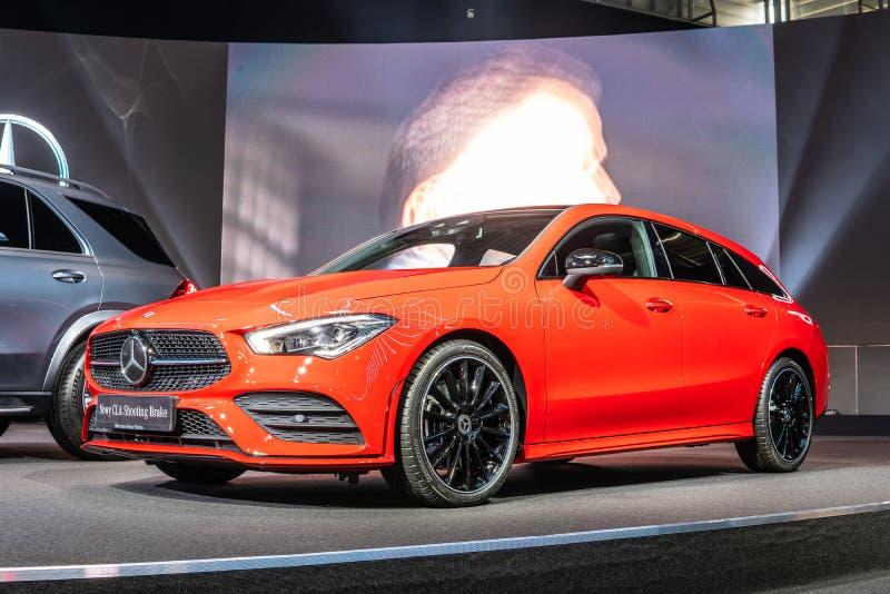 Mercedez Benz CLA Mkn?cy hamulec 4Matic, drugie pokolenie, C118, stacyjnego furgonu samoch?d produkuj?cy Mercedes-Benz obrazy royalty free