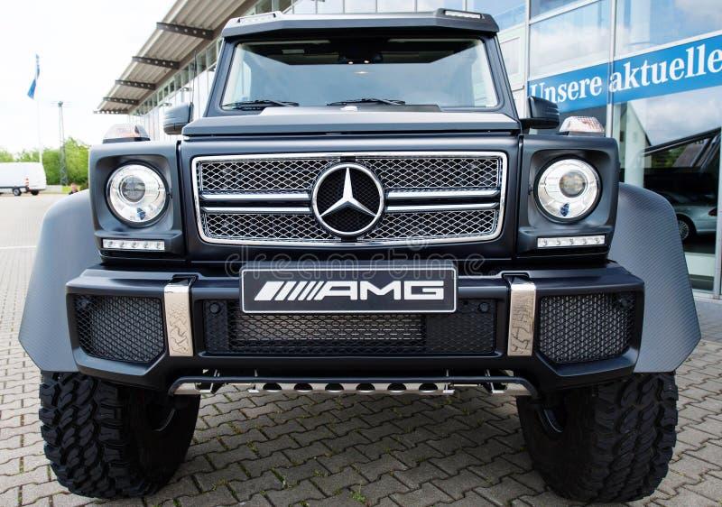 Mercedez Benz klasa, AMG, frontview obraz stock