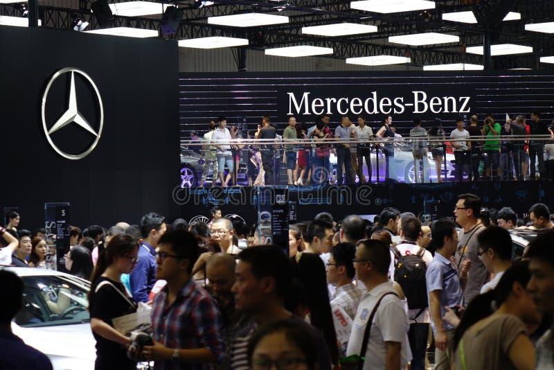 Mercedez benz pavilionï ¼ Œ17th Chengdu Motorowy przedstawienie fotografia royalty free
