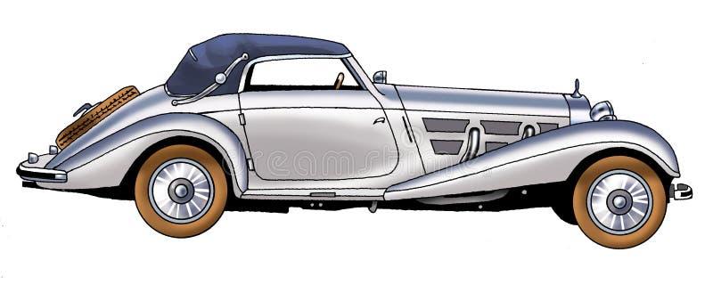 Mercedez Benz wydanie 1938 royalty ilustracja