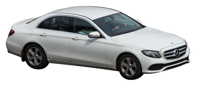 Mercedez biel na przejrzystym tle obraz stock