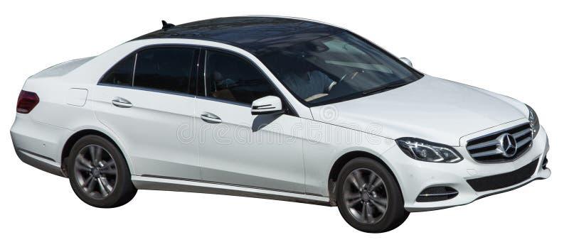 Mercedez klasowy biel na przejrzystym tle zdjęcie royalty free
