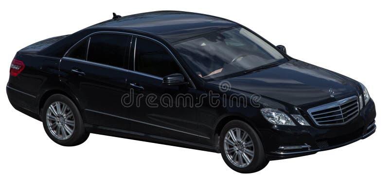 Mercedez s klasowy czer? na przejrzystym tle obrazy stock