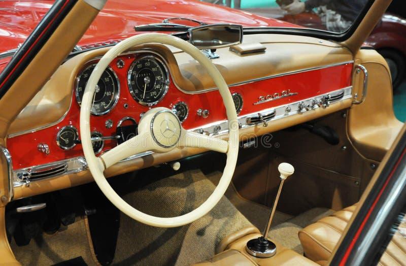 Mercedez 300SL wnętrze zdjęcia royalty free