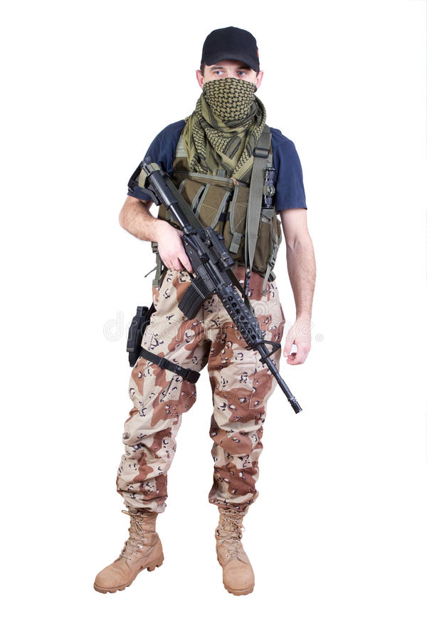 Mercenário - soldado da fortuna fotografia de stock royalty free