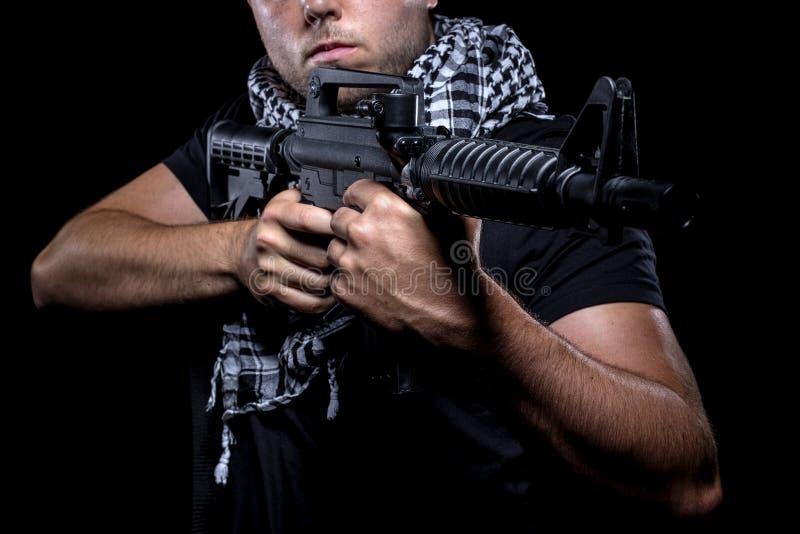 Mercenaire militaire privé d'entrepreneur images stock
