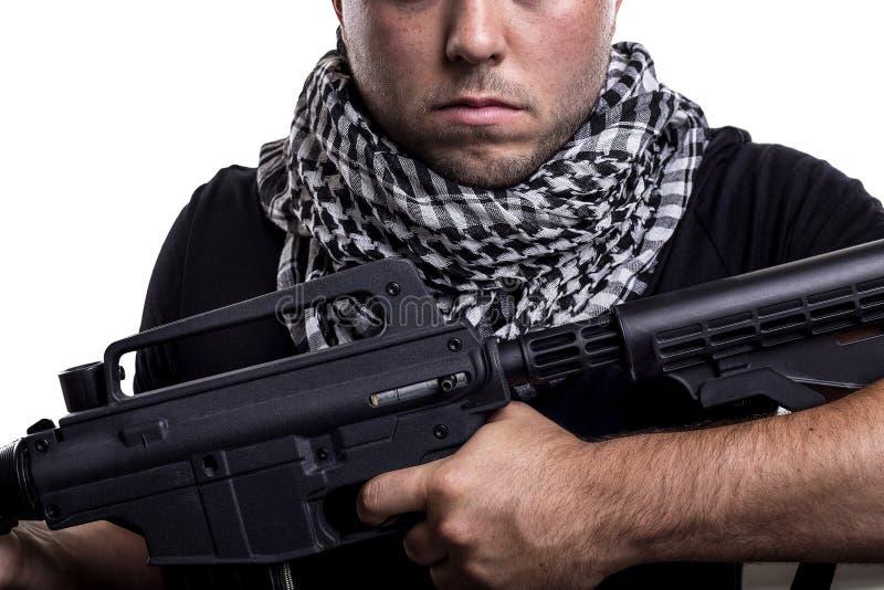 Mercenaire militaire privé d'entrepreneur image libre de droits